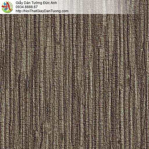 M80147 Giấy dán tường màu nâu, giấy dán tường gân to màu nâu mới nhất