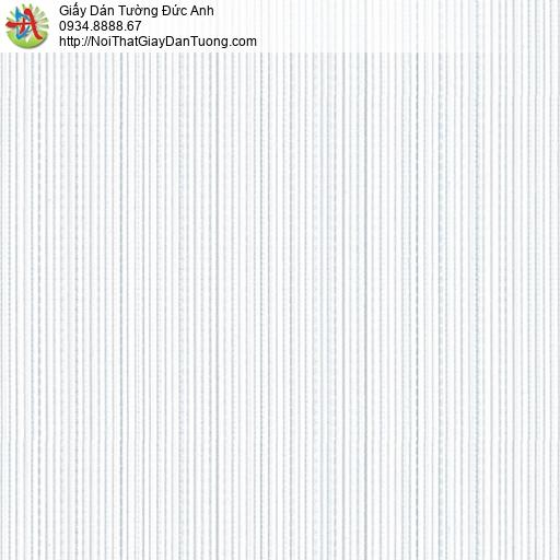 3805-1 Giấy dán tường dạng sọc nhỏ màu trắng, giấy sọc đứng mới nhất