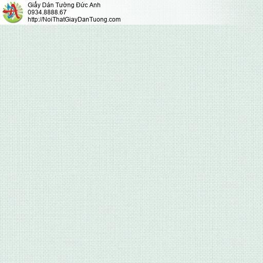 3810-2 Giấy dán tường dạng gân trơn màu xanh nhạt, sản xuất ở Việt Nam