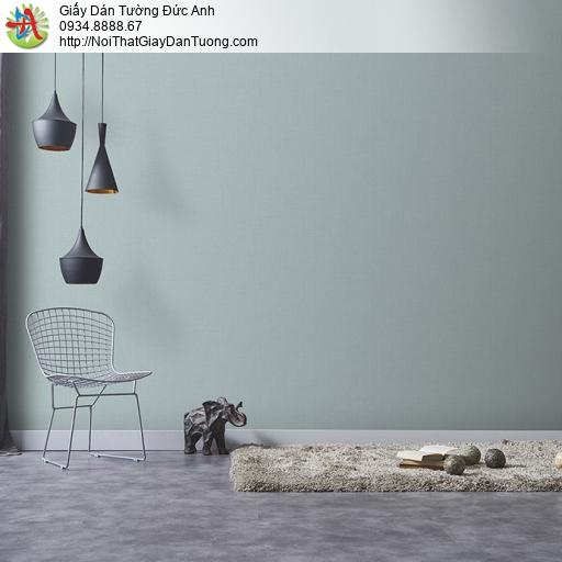 3810-4 Giấy dán tường trơn màu đơn giản màu xanh nhạt, màu xám xanh