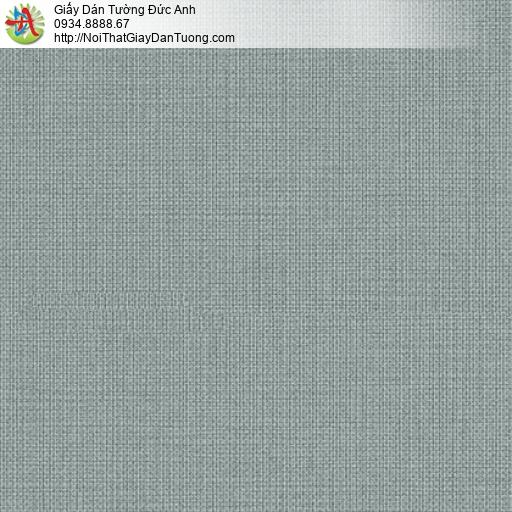 3810-5 Giấy dán tường đơn giản, giấy gân trơn màu xám xanh hiện đại