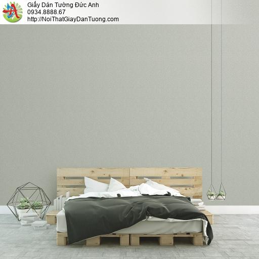 3811-3 Giấy dán tường dạng gân màu xanh rêu nhạt, giấy gân đơn giản