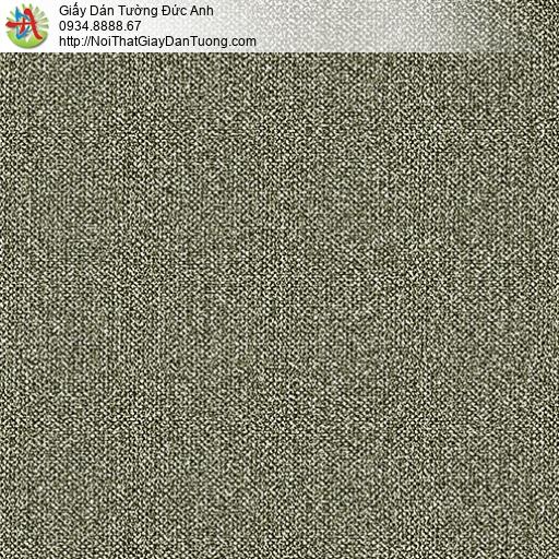 3811-4 Giấy dán tường dạng gân màu rêu, giấy dán tường màu xám vàng