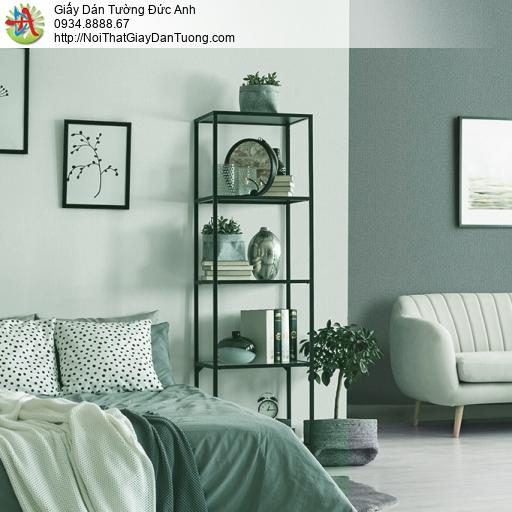 3811-6 Giấy dán tường dạng trơn màu xanh nhạt, giấy dán tường Việt Nam