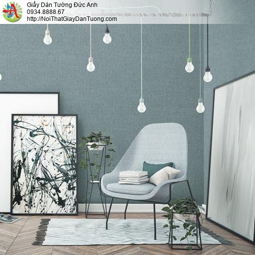 3812-5 Giấy dán tường dạng gân màu xanh nước biển, giấy Việt Nam