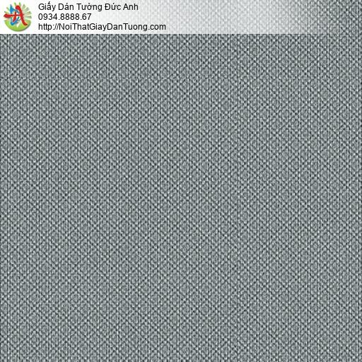 3813-̣11 Giấy dán tường gân xéo dạng ca rô màu xám đậm, giấy đơn giản