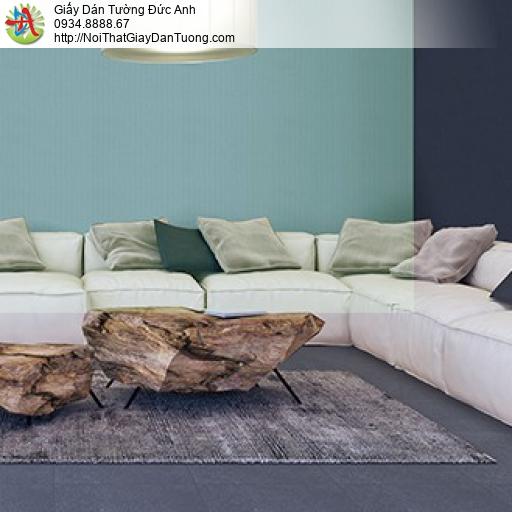 3813-5 + 3813-6 Giấy dán tường ca rô màu xanh, thi công giấy dán tường