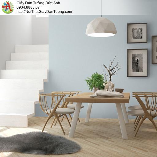 3814-4 Giấy dán tường dạng trơn màu xanh mới hiện đại 2020 Bình Chánh