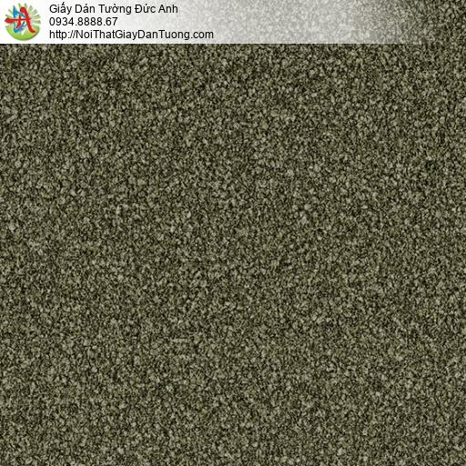 3815-4 Giấy dán tường vảy cát mà xanh rêu, giấy gân to màu rêu mới