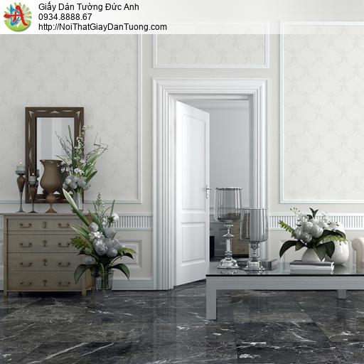 3820-1 Giấy dán tường hoa văn kiểu cổ điển màu trắng nhẹ nhàng mới 20