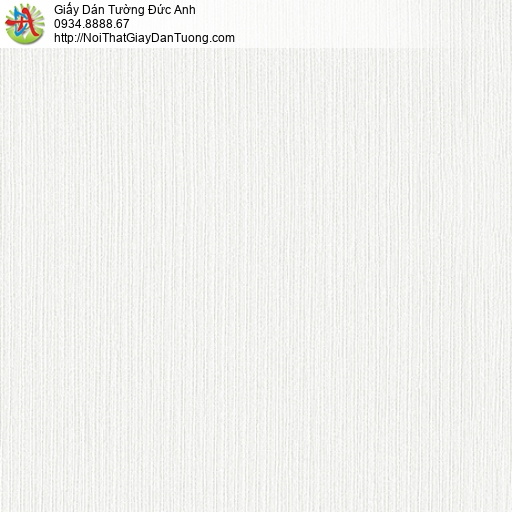 3821-1 Giấy dán tường sọc nhỏ nhuyễn, họa tiết vân chìm màu trắng kem