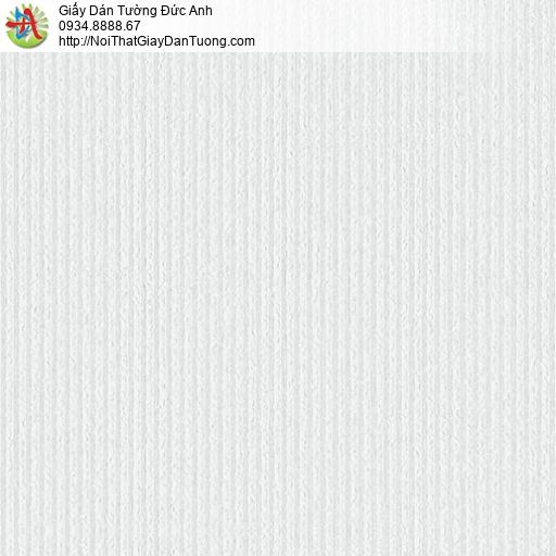 3824-1 Giấy dán tường gân sọc nhuyễn nhỏ màu trắng, giấy gân chìm mới