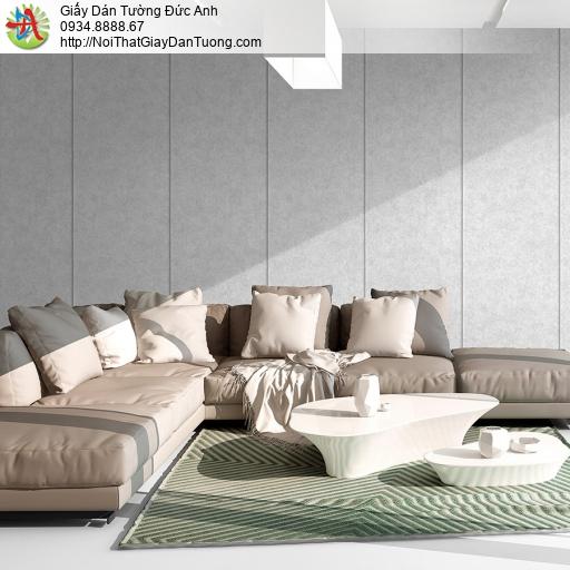 3822-1 Giấy dán tường giả bê tông màu xám, giấy dạng bê tông mới 2020