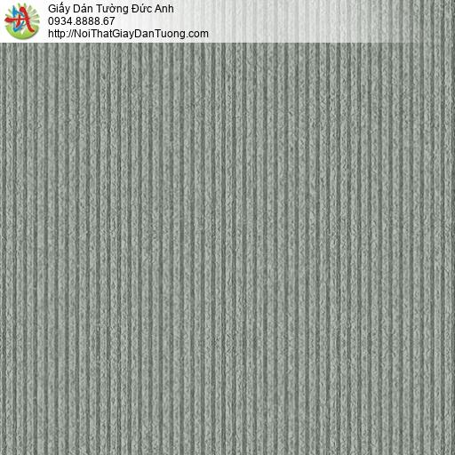 3824-4 Giấy dán tường gân sọc nhỏ nhuyễn màu xám xanh mà xanh rêu