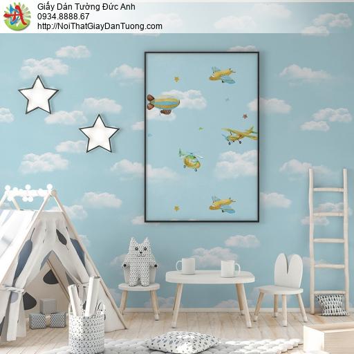 3826-1 Giấy dán tường bầu trời, trời xanh mây trắng, giấy dán trần đẹp