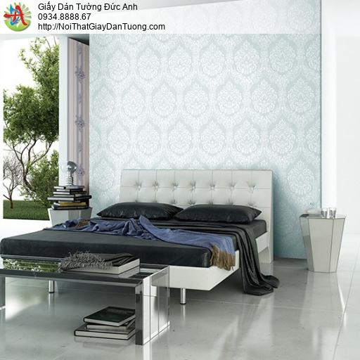 3829-3 Giấy dán tường phong cách Châu Âu cổ điển màu xanh đẹp nhất