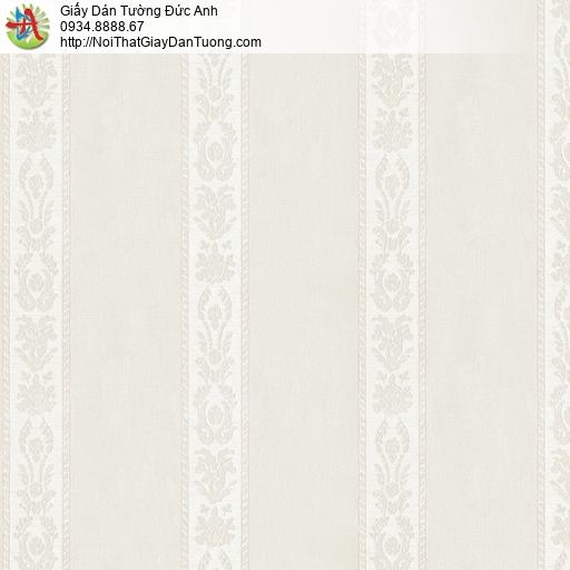 3830-2 Giấy dán tường dạng kẻ sọc màu vàng nhạt, sọc to nhỏ xen kẽ đẹp