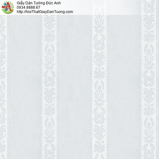 3830-3 Giấy dán tường kẻ sọc mà xanh lơ, giấy sọc màu xanh nhạt