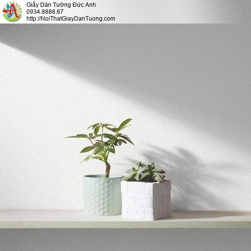 3831-1 Giấy dán tường gân cổ điển vân chìm màu trắng,giấy gân đơn giản