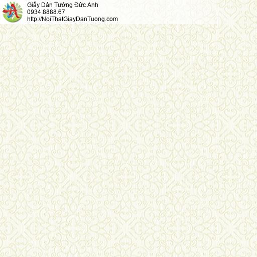 3831-4 Giấy dán tường cổ điển đơn giản màu vàng nhạt, màu vàng kem đẹp