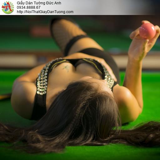 DA316 - Tranh dán tường bida, bi-a, bi a, billard, Billiards & Snooker