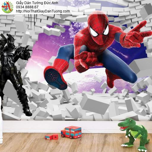 2164 - Tranh dán tường trẻ em, siêu nhân người nhện, spider man 3D HCM