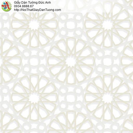 27033 - Giấy dán tường họa tiết 3D hình đường kẻ bánh xe tròn màu kem