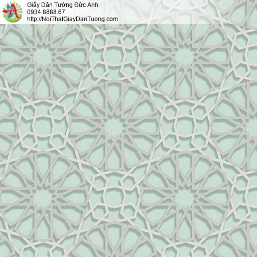 27035 - Giấy dán tường họa tiết 3D các đường kẻ dạng nổi 3D màu xanh
