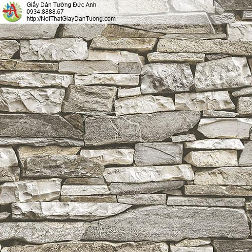 27051 - Giấy dán tường giả đá 3D, đá nhỏ xếp chồng lên nhau