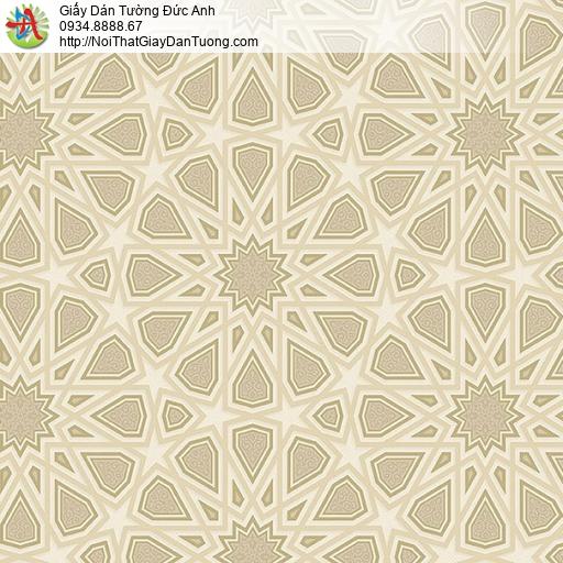 27082 - Giấy dán tường các đường kẻ 3D màu vàng