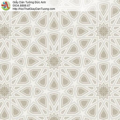 27084 - Giấy dán tường 3D họa tiết màu xám đất đường kẻ trắng mờ