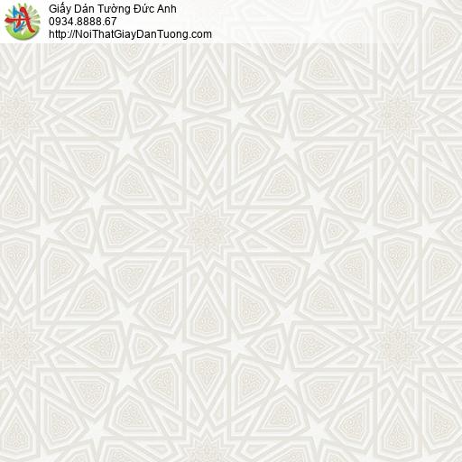 27085 - Giấy dán tường 3d màu kem, họa tiết đường kẻ màu vàng kem