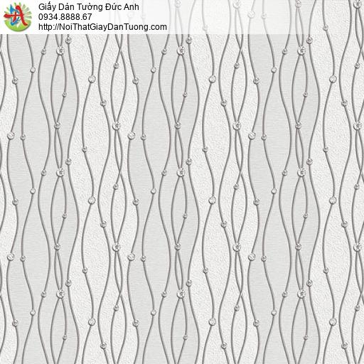 63001 - Giấy dán tường họa tiêt zic zac uốn lượn màu xám nhạt