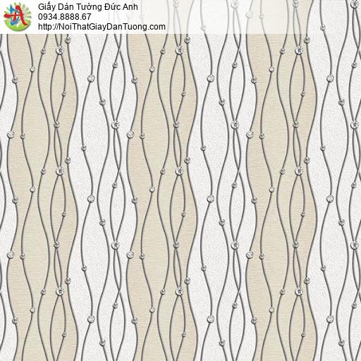 63002 - Giấy dán tường những đường kẻ uốn lượn kiểu zic zac màu vàng