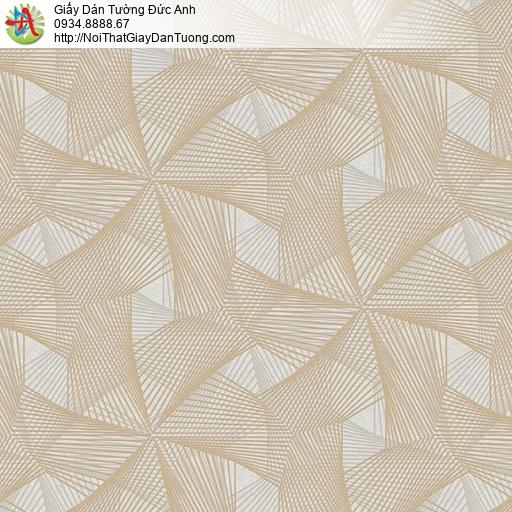 63031 - Giấy dán tường dạng lưới 3D màu vàng cam nhạt
