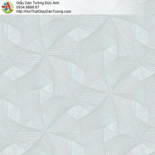 63032 - Giấy dán tường dạng lưới 3D màu xanh lơ, xanh nhạt xám xanh