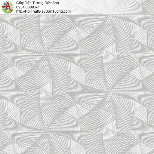 63034- Giấy dán tường họa tiết dạng lưới 3D màu xám, thi công dán giấy