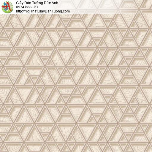 63042 - Giấy dán tường 3D các đường kẻ lưới màu nâu nhạt,vàng đất