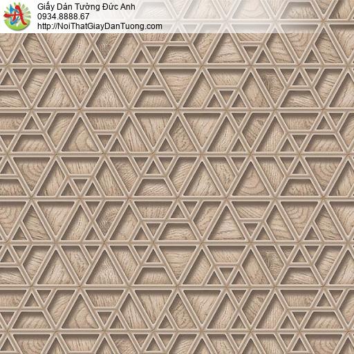 63043 - Giấy dán tường 3D màu nâu, các đường kẻ nổi 3D đẹp