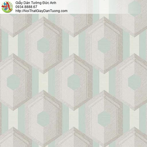 63053- Giấy dán tường 3D, giấy điểm nhấn phòng khách màu xanh ,màu xám