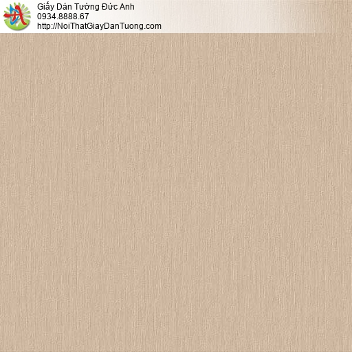 63064 - Giấy dán tường dạng trơn gân màu nâu, giấy một màu vàng đất