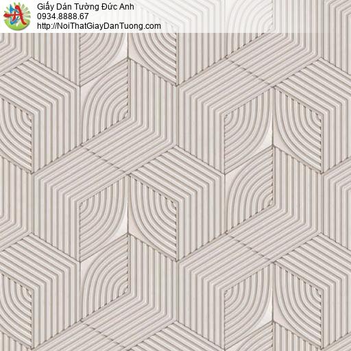 63073 - Giấy dán tường hình họa tiết lập thể màu đất, màu xám