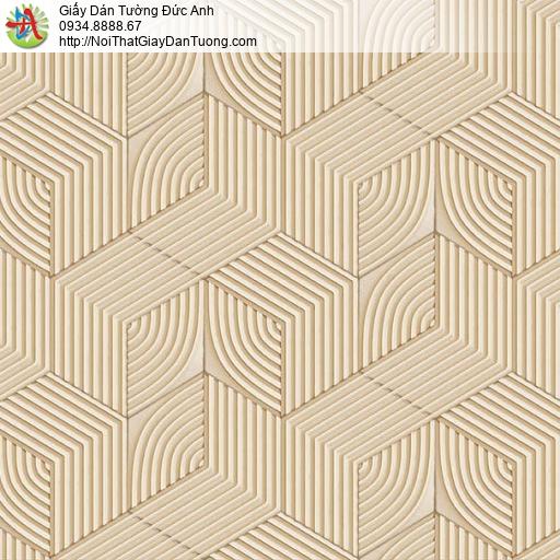 63074- Giấy dán tường hình lập thể, họa tiết lập thể vuông 3D màu vàng