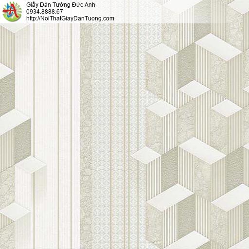 10042 - Giấy dán tường hình lập thể màu xám xanh nhạt