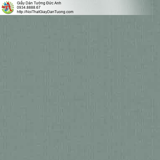 10074 - Giấy dán tường trơn màu xanh ngọc, giấy gân màu xanh lá cây