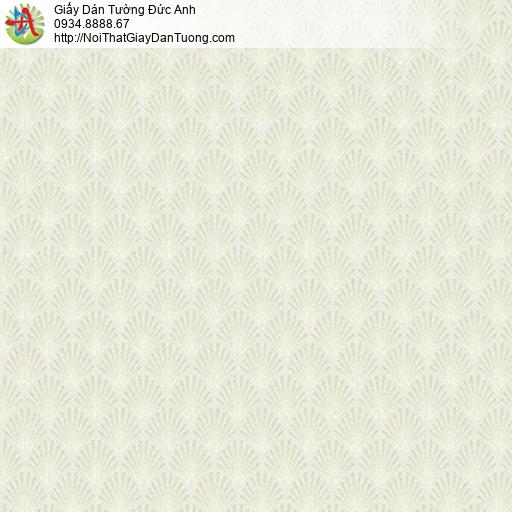 10122 - Giấy dán tường họa tiết vảy cá mái, hoa văn mái ngói màu vàng