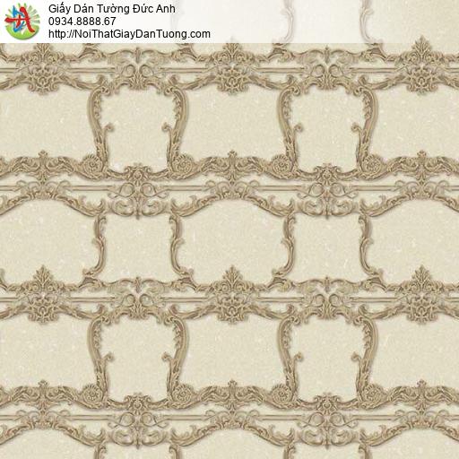 10134 - Giấy dán tường màu vàng cổ điển, giấy phong cách Châu Âu