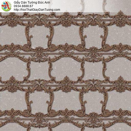 10136 - Giấy dán tường màu nâu mang phong cách cổ điển ngày xưa