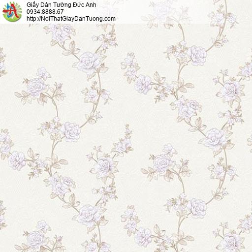 63081 - Giấy dán tường hoa văn dạng dây leo tường màu hồng nhạt