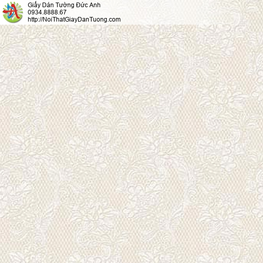 63094 - Giấy dán tường bông hoa nhỏ màu vàng, hoa văn dây leo